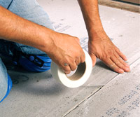 Apply fiberglass mesh tape