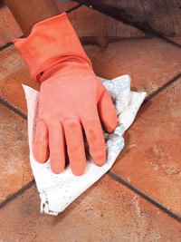 Remove grout haze
