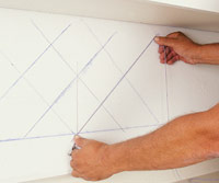 Layout diagonal backsplash