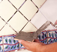 Back-butter tile