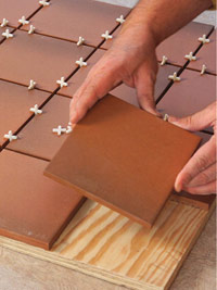 Dry-lay tile and spacers