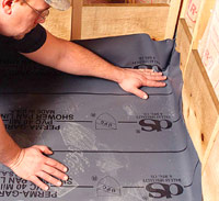 Set membrane on the floor