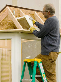 Fill framing with insulation