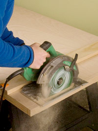 Cut with circular saw