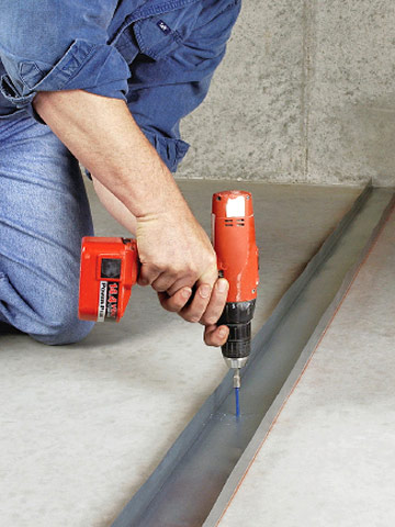 Fastening An Interior Wall To Concrete Framing Basics
