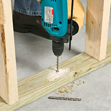 Fastening an interior wall to concrete framing basics drywall