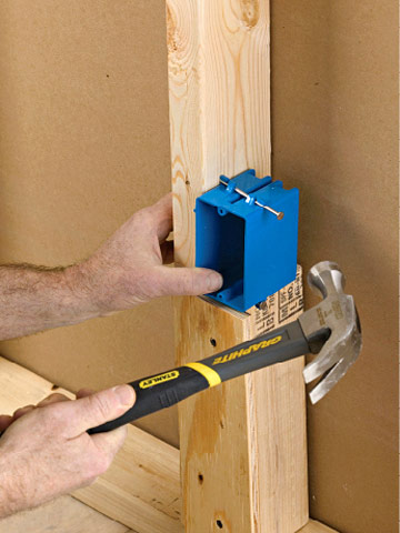 How To Cut In An Electrical Box Manual Through Drywall