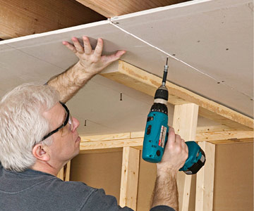 how to cover a ceiling drywall hanging drywall installation