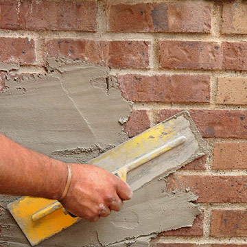 How to paint brick german smear technique dark brown hairs - Painting over brick exterior photos ...