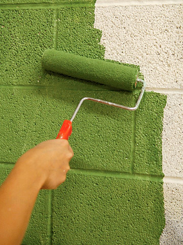 Painting masonry and other surfaces how to paint any - Concrete block painting ideas ...