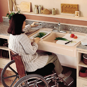 accessible sink enlarge image - Ada Kitchen Sink