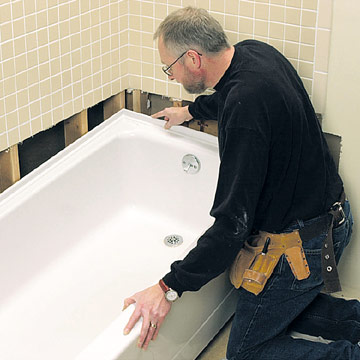 Replacing A Bathtub How To Repair Or Replace A Bath Tub DIY Plumbing DIY
