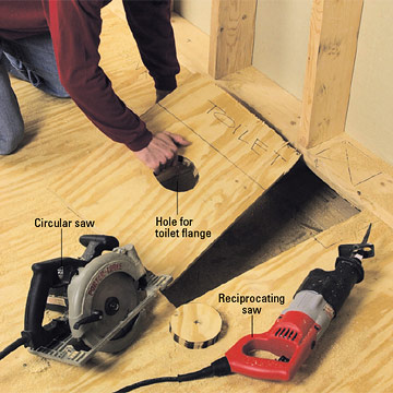 Preparing the Site How to Install a New Bathroom DIY Plumbing