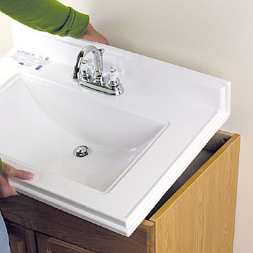 Installing a Bathroom Vanity Sink - How to Install a New Bathroom ...