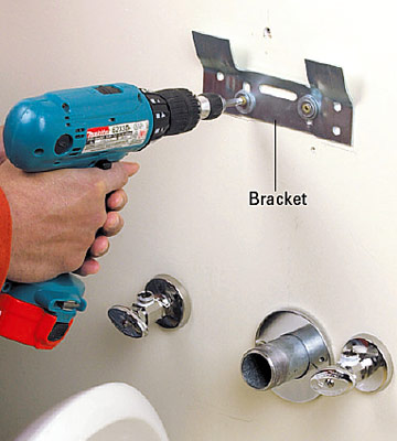Pedestal Sink Wall Bracket : Installing a Pedestal Sink - How to Install a New Bathroom - DIY ...