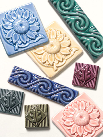 relief tiles enlarge image - Decorative Tile
