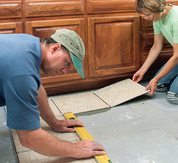 Prepare floor for tile