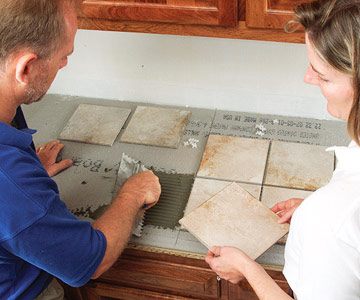 Tiling A Kitchen Countertop How To Tile Floors Walls