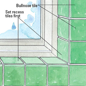 Tiling a Window Recess - How Tile to Special Spaces - Tile ...