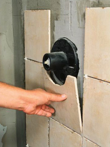 Tiling a shower enclosure or tub surround how to tile bathroom features tile tiling diy Install tile shower
