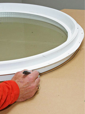 Installing A Round Window How To Install New Windows In
