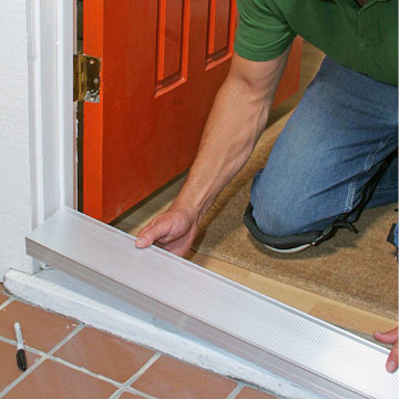 Replacing a sill and threshold how to repair any door in your house diy advice for Exterior door threshold replacement