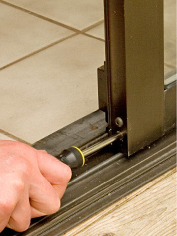 Turn adjusting screw Enlarge Image & Sliding Patio Door Repairs - How to Repair Any Door in Your House ... Pezcame.Com