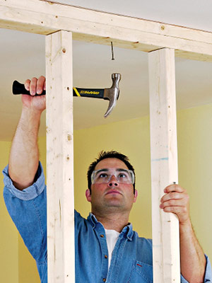 Framing An Interior Wall With Wood Studs Framing Basics