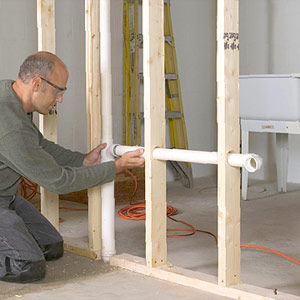Building A Wet Wall How To Install A New Bathroom Diy