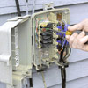 Attach wires to junction box