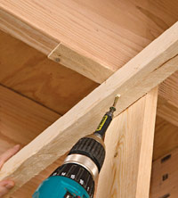 Attach runner assembly to joists