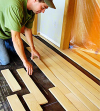 Installing Wood Strips or Planks - How to Install Wood Floors ...