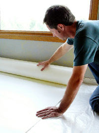 Roll out underlayment