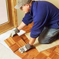 Continue laying tiles