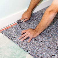 Trim carpet pad