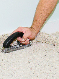 Trim with wall trimmer