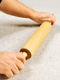 Roll tile with rolling pin