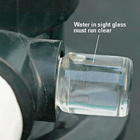 Filter sight glass