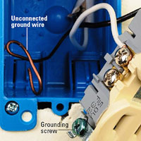 Check for unconnected ground wire