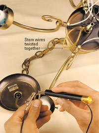 Check stem wires for continuity