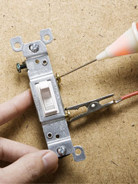 Test single-pole switch