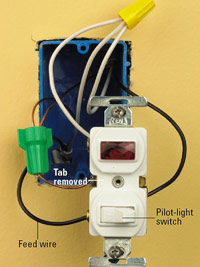Pilot-light switch