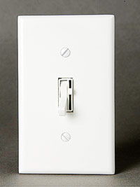 Toggle-switch with dimmer