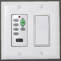Remote fan control and light switch