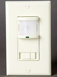 Motion detector with adjustable photocell and time delay
