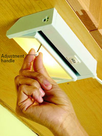Adjust lamp housing
