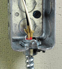 Metal box with conduit