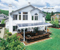 House with photovoltaic cells