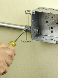 Tighten setscrew
