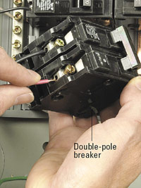 Connect to double-pole breaker